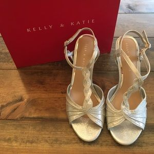 Kelly & Katie silver dress heels